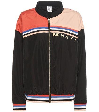 Buy it now. Baseline Printed Bomber Jacket. Baseline Multicoloured Printed Bomber Jacket By P.e Nation , chaquetabomber, bómber, bombers, elbowdiamond, baseball. Black P.E Nation  bomber jacket  for woman.