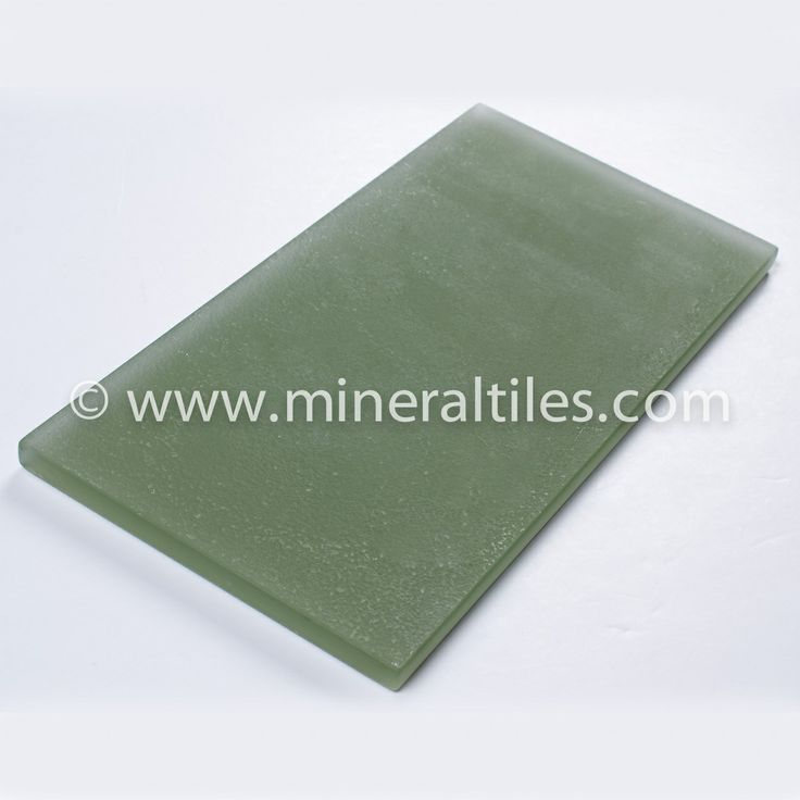 Ocean Glass Subway Tile Green Frosted 4×8