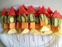 Fruit Rocket Ship...use straws instead of skewers