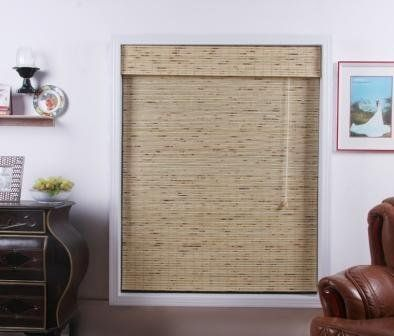 Petite Tropical Rustic Bamboo Roman Shade - Free Shipping, 31x54 by Top Blinds. $32.25. Each shade comes with a Retro-fit kit recommended by the CPSC. Mounting hardware included for inside and outside mounting. Lift cords are on the right side.. For inside mount, please order a shade that is at least 1/4 inch smaller than the width of your window.. Roman style bamboo shade gently filters light. This is not a privacy shade.. 7 inch valance and side returns included, 31 ...