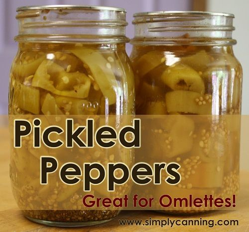 Pickled Peppers Recipe, Hot, mild. Jalapeno or Banana http://www.simplycanning.com/pickled-peppers-rings.html