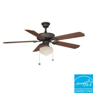 Hampton Bay Tri Mount 52 In Oil Rubbed Bronze Energy Star