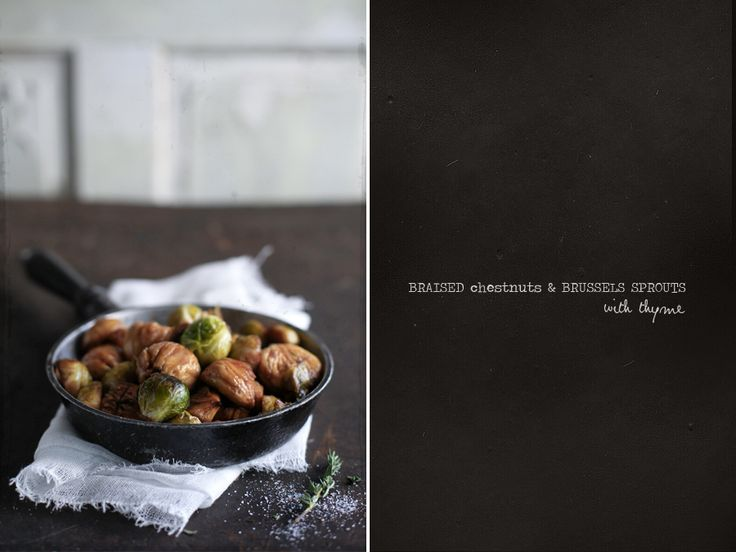 Braised Chestnuts & Brussels Sprouts.