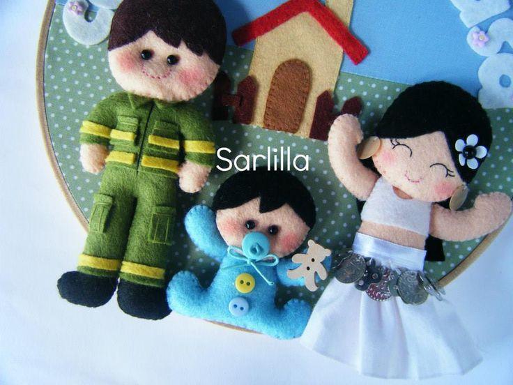 Quadretto famiglia per Martina, Fabio e Lorenzino ♥