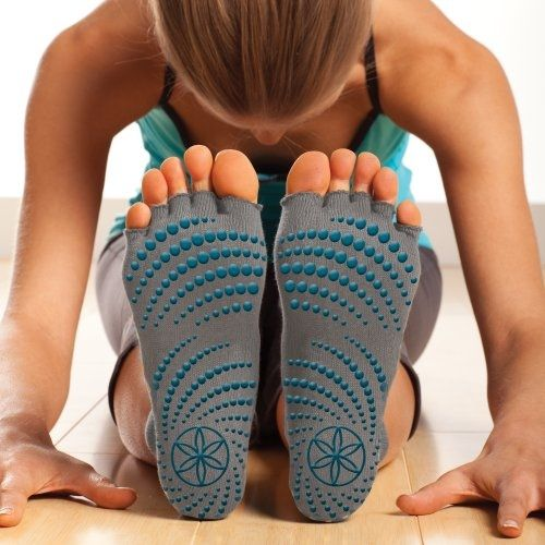 Gaiam Toeless Grippy Yoga Socks, these are kinda neat what do you think?