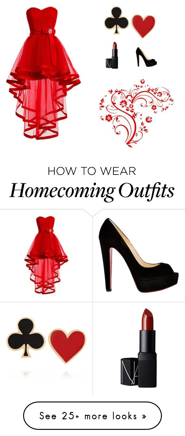 """Queen of Hearts"" by angelicabautista18 on Polyvore featuring Christian Louboutin, Alison Lou and NARS Cosmetics"