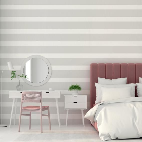 Light Gray Striped Wallpaper Nursery Geometric Self Adhesive Wall Mural Grey Lines Peel Stic In 2020 Grey Striped Wallpaper Minimalist Wall Decor Striped Wallpaper