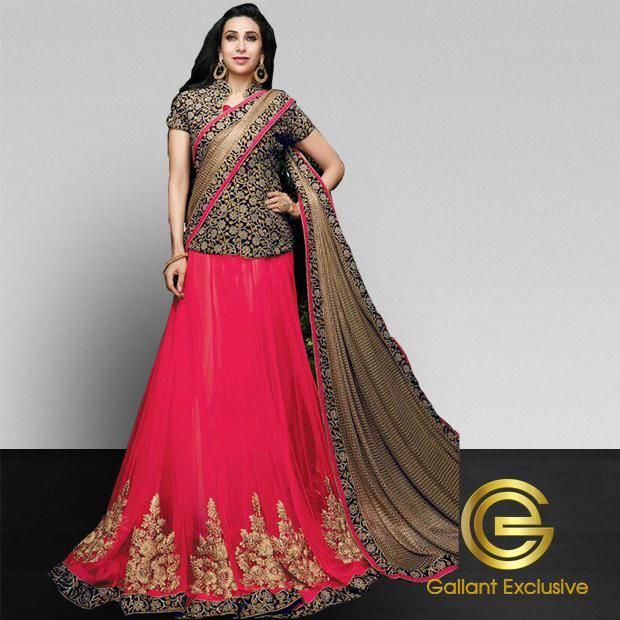 Buy Magenta Color Designer #Sarees Online #USA and #Canada Know More Details Click Here http://www.galexclusive.com/shop/sarees/designer-sarees/buy-designer-saree-in-magenta-color-online/