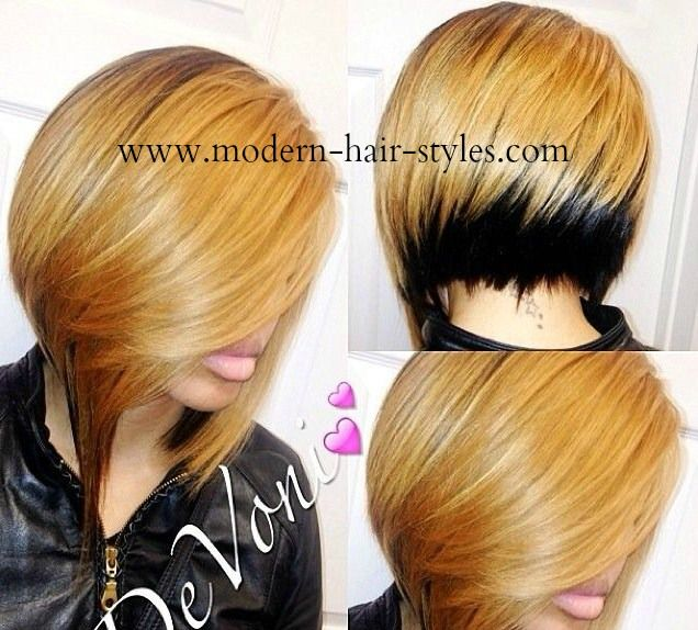 This bob has so much attitude with its reverse Ombre look.   This particular blonde is considered for most a honey blonde, and makes the skin glow.