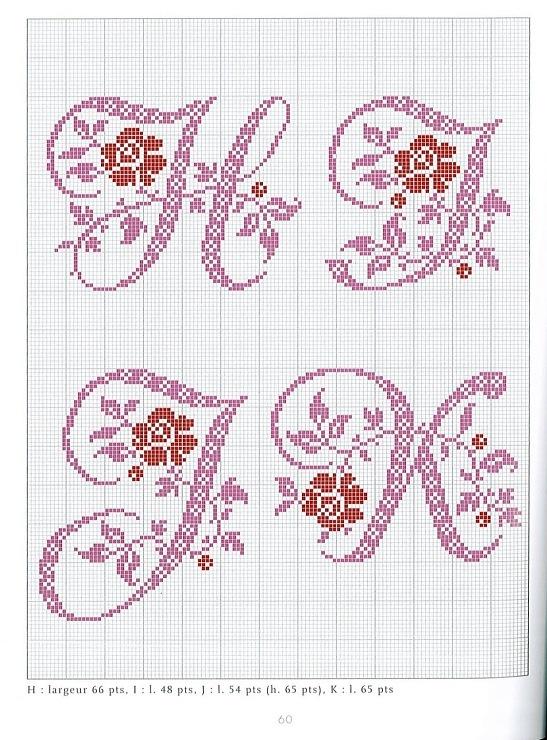 Gallery.ru / Фото #42 - belles lettres au point de croix - moimeme1