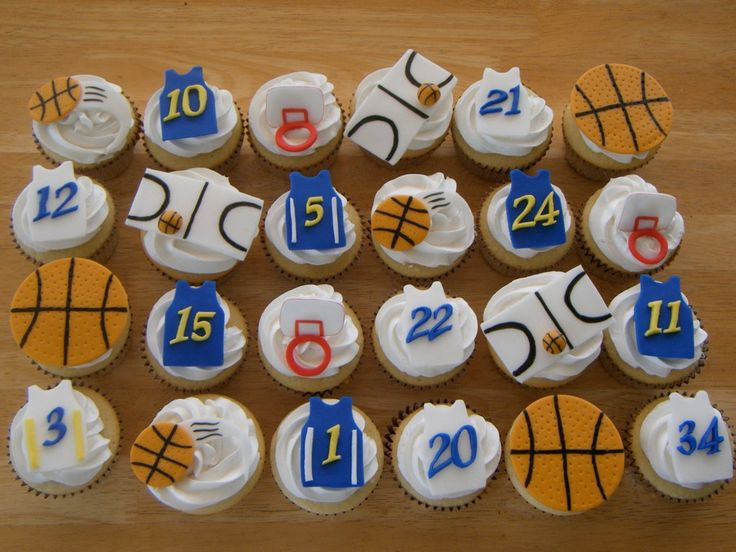 Easy Basketball Cake Decorating Ideas : Father s Day Cupcake Decorating Idea: Fondant Basketball ...