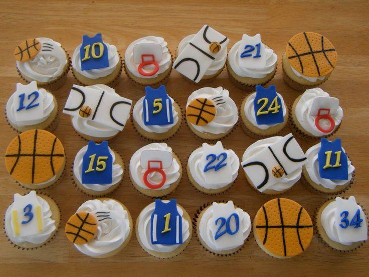 Father s Day Cupcake Decorating Idea: Fondant Basketball ...
