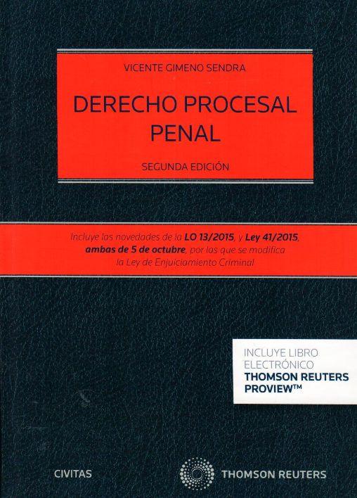 Derecho procesal penal / Gimeno Sendra, Vicente