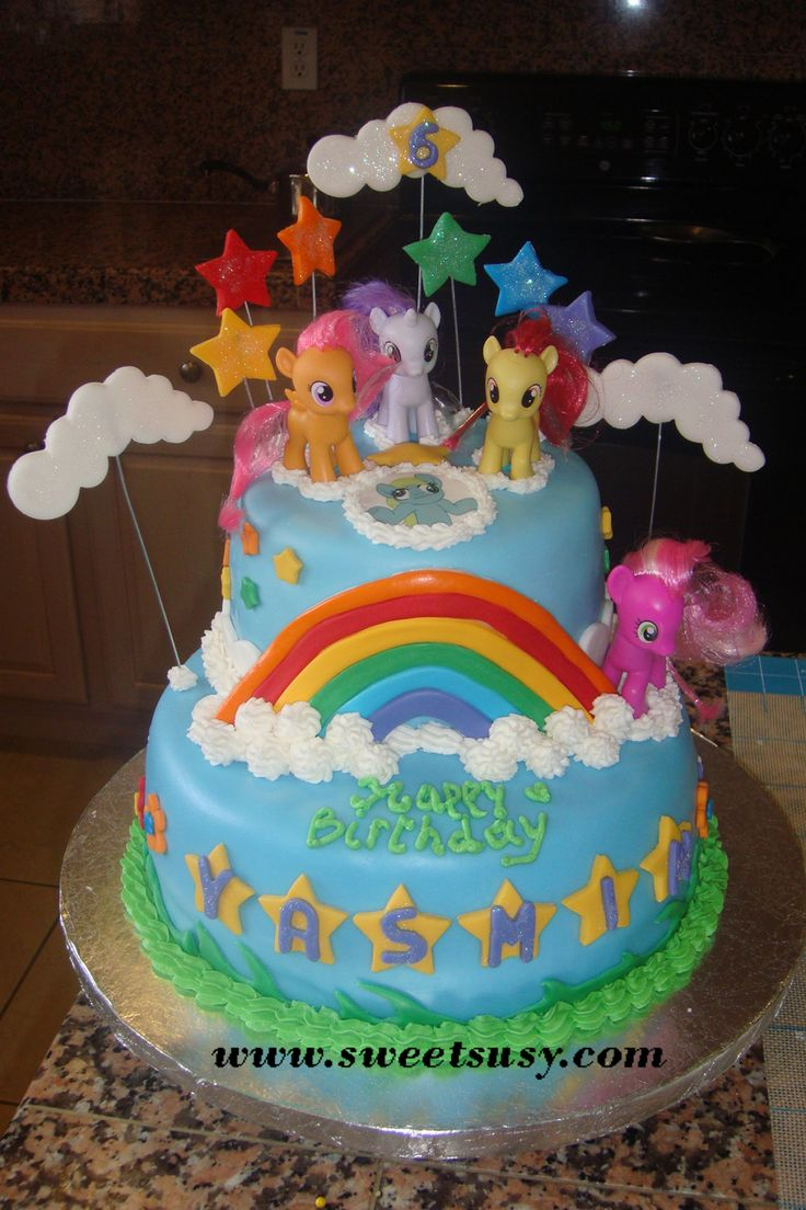 my little pony birthday cakes | Fondant cakes can be made of or multi-tier combination of: Yellow ...