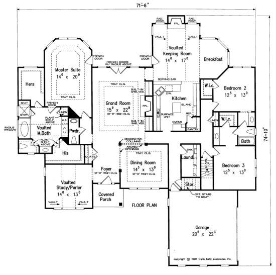 68 best Frank Betz House Plans images on Pinterest | House floor ...