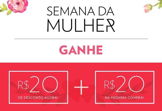 Quem comprar esta semana no site da Marisa irá receber um desconto de R$20 e outro cupom de igual valor para uma compra futura.