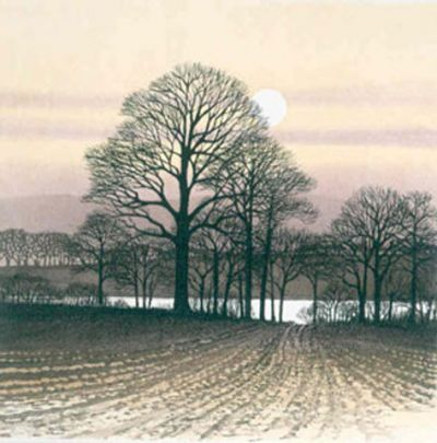 River path Etching by Kathleen Caddick