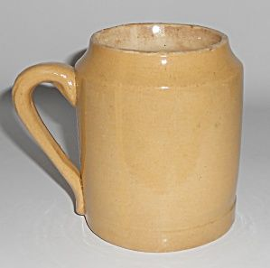 Bauer Pottery Early Yellow Ware Beer Mug #3