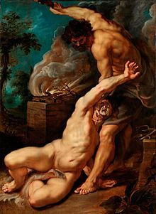 """Cain and Abel - story of them found in both the Hebrew Scriptures and in the Qu'ran (mentioned there as """"the sons of Adam)"""