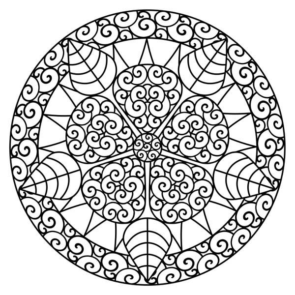 10 best coloring pages images on pinterest mandalas, decorations mandala coloring pages for kids Complicated Coloring Pages for Adults Black Mandala Coloring Pages Girls