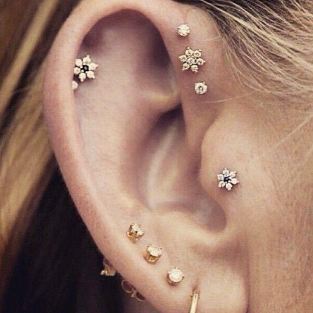 Ohrring piercing bilder