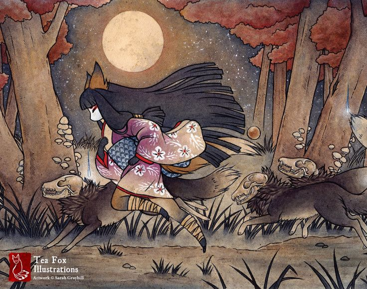Running With Monsters / Kitsune Fox Yokai / by TeaFoxIllustrations