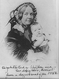 Elizabeth Cady Stanton worked hard for women's rights even though she was a wife and mother.