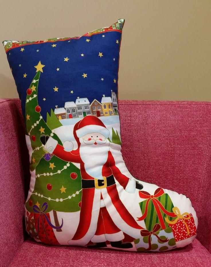Noel babalı çorap yastık