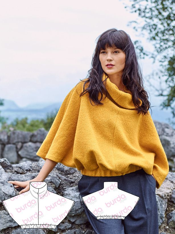 Poncho Sweater 12/2016 #120 http://www.burdastyle.com/pattern_store/patterns/poncho-sweater-122016?utm_source=burdastyle.com&utm_medium=referral&utm_campaign=bs-tta-bl-161122-CoolBritanniaCollection120