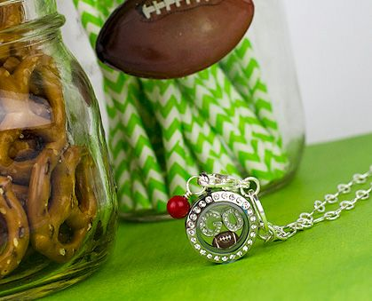 Are you ready for some Football!  Origami Owl football inspired locket.  Great to wear to little league games, high schoo, college or Pro games!