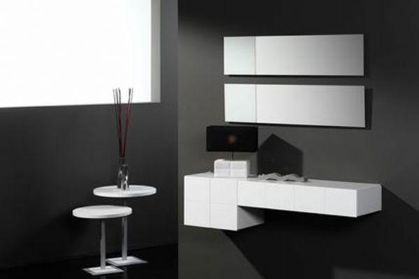 Recibidor cuadrat blanco 27 mueble entrada muebles de for Muebles modernos en madrid