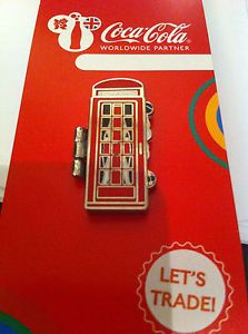 LONDON 2012 OLYMPICS COCA COLA WELCOME TO THE GAMES PIN TEAM GB TELEPHONE BOX  | eBay