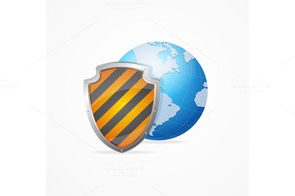 Global Safety Concept. Vector  @creativework247