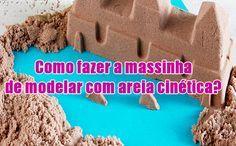 Como fazer massinha de areia cinetica caseira – Kinetic sand #comofazer #dicas #kineticsand #areia #massinha