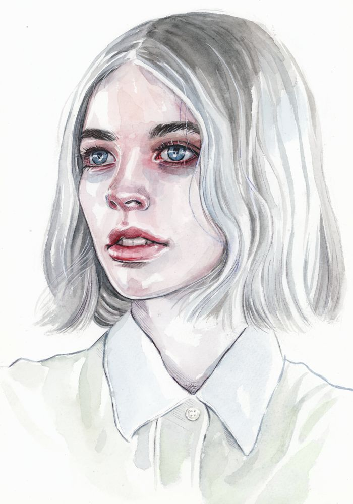Watercolor Portrait by Tomasz-Mro.deviantart.com on @DeviantArt