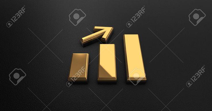 Luxury Design 3d Gold Graph Chart Икона на Черная кожа - Бизнес-концепция Фотография, картинки, изображения и сток-фотография без роялти. Image 56442056.