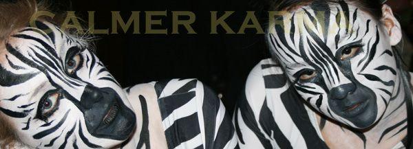 Zoo themed entertainment to hire.  Walkabout zebras www.calmerkarma.co.uk Tel:  020 3602 9540
