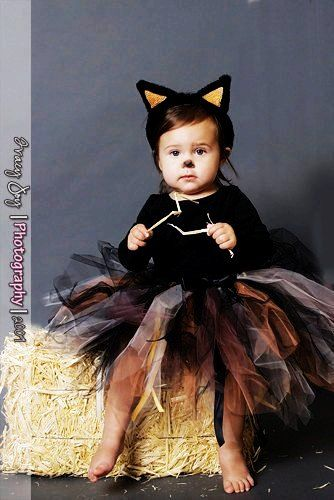 2014 Shabby Kitty Cat Tutu Halloween Costume custom made 1 2 3 4 Years Tabby Cat