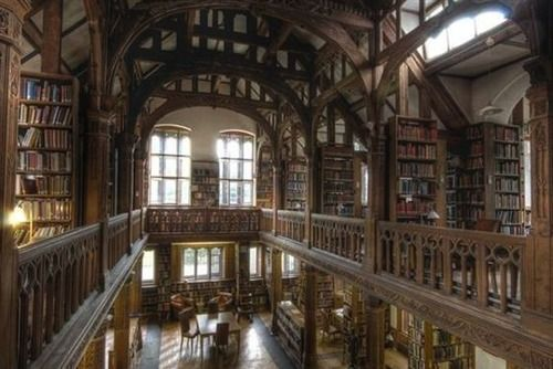 In 1889, British prime minister William Gladstone decided to make his 32,000-book library available to the public. Further, he envisioned the space (located in Wales) as a sort of scholarly hotel, at which visitors might spend the night and enjoy meals. And you still can!For a very reasonable $75 per night (dinner and breakfast included), you can stay ina lovely room, have access to the entire library, and roam the gorgeous grounds. Just my cup of tea!