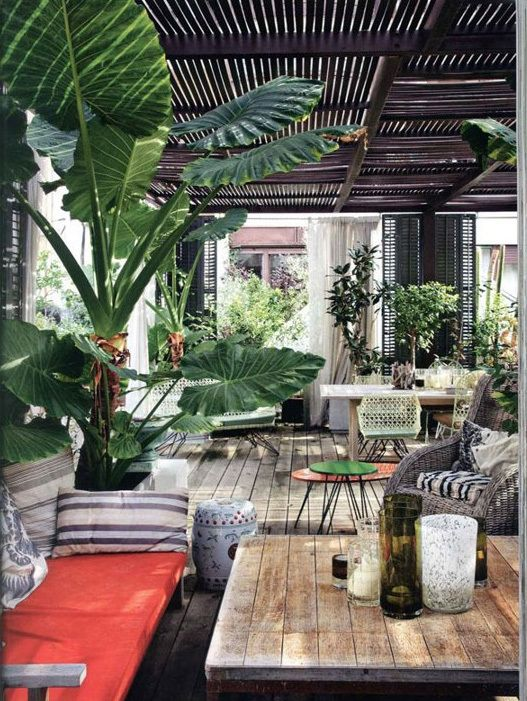 If you're wanting to create a tropical outdoor feel in London, then look no further: Opium, 414 Kings Road, Chelsea, London