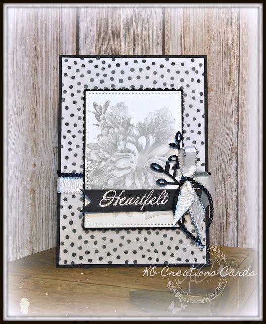 KOCreations Stampin' Up! Blog: SSBH - Sale-A-Bration - Monochrome Heartfelt Blooms