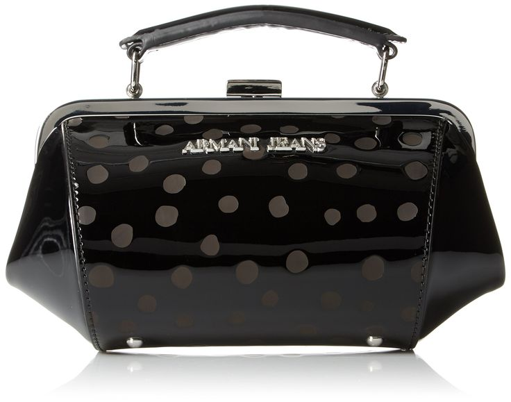 Armani Jeans Polka Dot Eco Patent Leather Clutch Bag