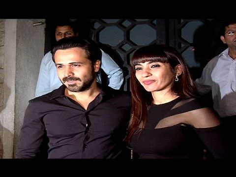 Emraan Hashmi on dinner date with wife Parveen Shahani at The Korner House, Mumbai.
