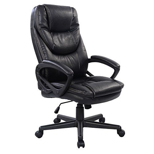 Giantex PU Leather High Back Ergonomic Office Chair  Black  1312 best Flash Furniture images on Pinterest   Barber chair  . Flash Furniture Mid Back Office Chair Black Leather. Home Design Ideas