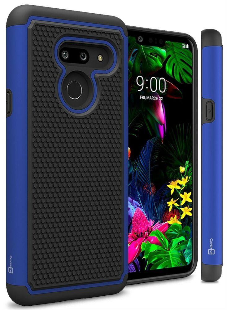 e6d64cbbfbc72b Blue   Black Case For LG G8 ThinQ Hybrid Shockproof Hard Slim Phone Cover   afflink