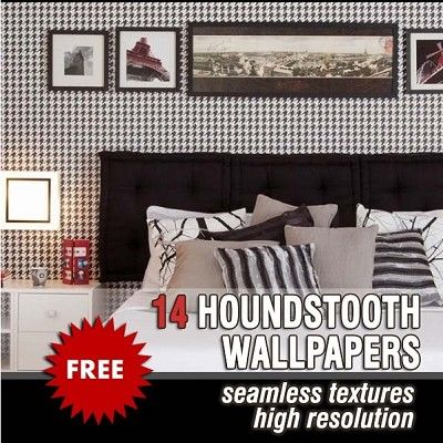 Packs  - HOUNDSTOOTH COLLECTION - Houndstooth pack wallpapers seamless textures 00032 | Sketchuptexture