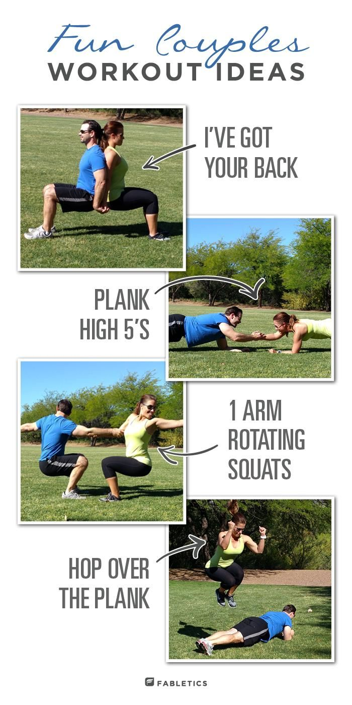 Burn major calories with these partner workout ideas. - Fabletics Blog