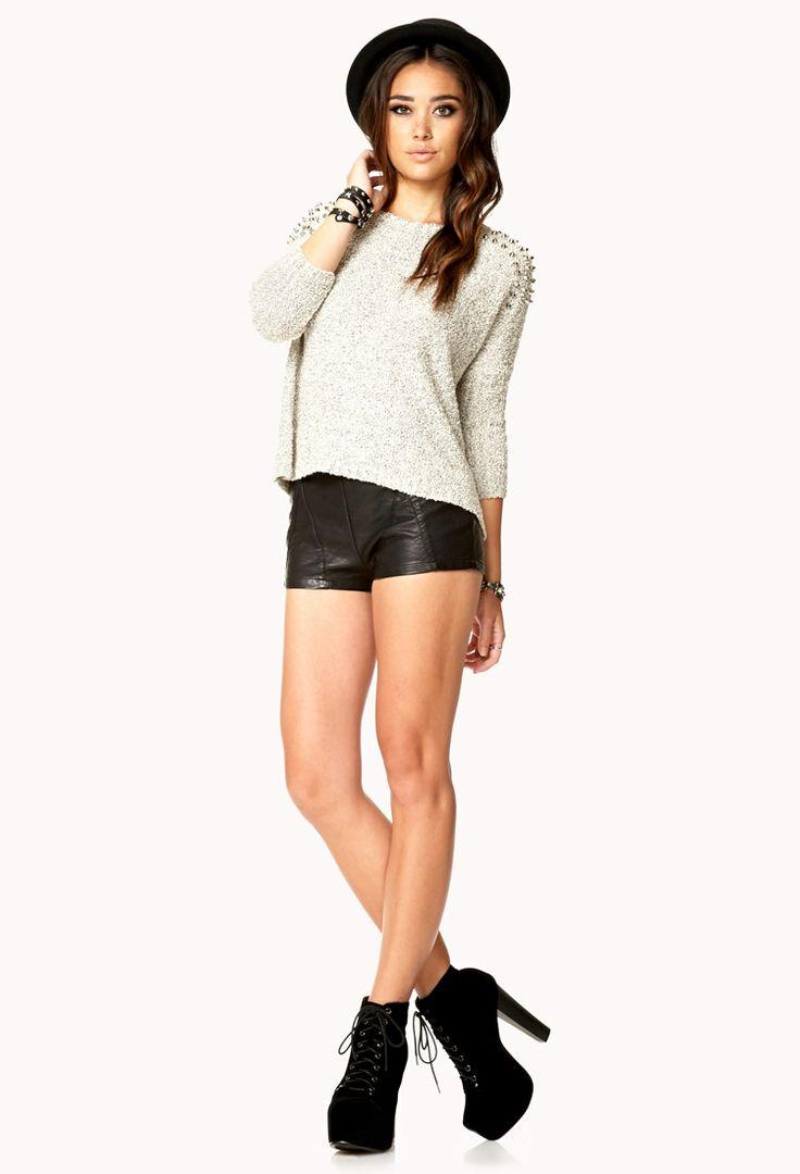 Tachonado Dolman Sweater   FOREVER21 - 2076379330