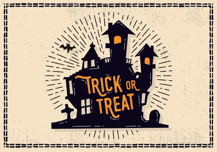 Free Halloween Castle Illustration