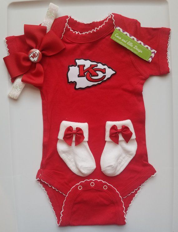cd4c3a45ccb Kansas City Chiefs baby outfit chiefs for baby kansas city chiefs baby  shower gift newborn kc chiefs chiefs take home outfit kc chiefs girl